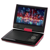 9 Inches Portable DVD Player Swivel Screen Digital Multimedia Support SD Card U Disk Playback AV OUT w/Headphones Remote Control