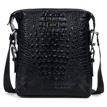 New designer branded cow leather men messenger bag casual business man bag fashion alligator pattern real skin men shoulder bag