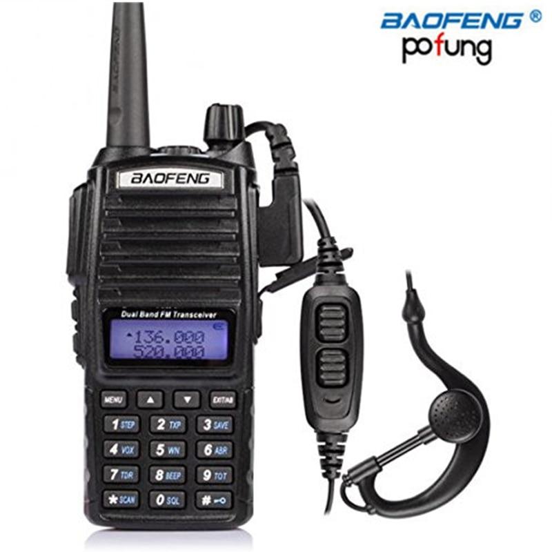 BAOFENG UV-82 walkie talkie VHF/UHF Dual Band long range 2-PTT 5W Two Way Radio UV82 two way cb radio +Headset