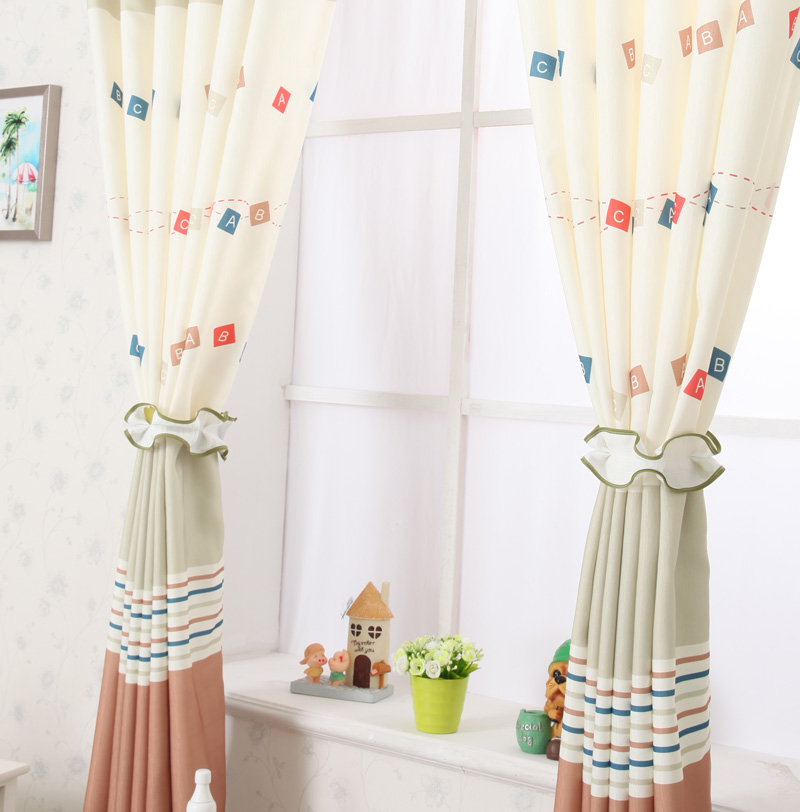 Beautiful Short Curtains Bedroom Children Curtain Pink Blue ...