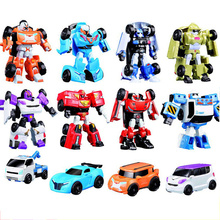 QUINEE OX Robot Car Toys Korea Cartoon Deformation Tobot Brothers Anime Quartran Kids
