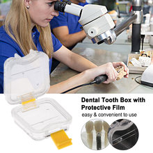 1pc Dental Lab Material Dental Tooth Box with Film Clear Denture Storage Box Professional Tooth Box accessories(China)