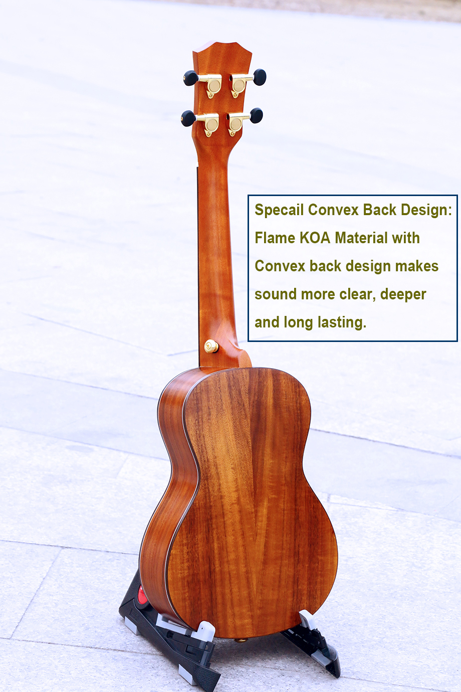 Купить с кэшбэком 23 inch Concert Ukulele Special fretboard decoration Mini Guitar made of KOA Handcraft China guitarra ukelele music instrument