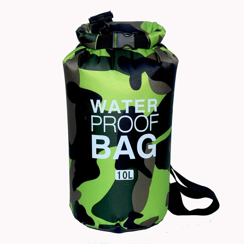 Waterproof Bag Ultralight Camping Dry Organizer Drifting Outdoor Swimming Bag Trekking Camouflage Outdoor Bag 2L/5L/10L/15L/20L цена