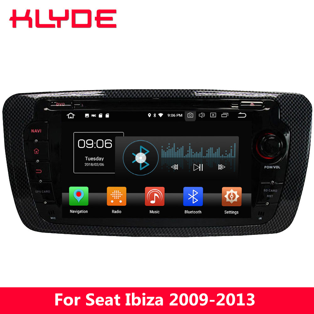 KLYDE 4G WIFI Android 8.0 Octa Core PX5 4 GB RAM 32 GB ROM DAB voiture DVD lecteur multimédia Radio stéréo pour VW Seat Ibiza 2009-2013