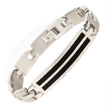 Stainless Steel Men Fashion Bend Bracelet European and American Trend Color