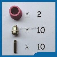 Plasma Nozzles Tips Electrode Alumina Nozzle KIT Fit SG 55 AG 60 Plasma Cutter Consumables 40
