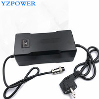 YZPOWER Rohs CE Smart 58.8V 3A Lithium Battery Charger for Electric Tool Robot Electric Car Li-on Battery 48V with Built-in Fan