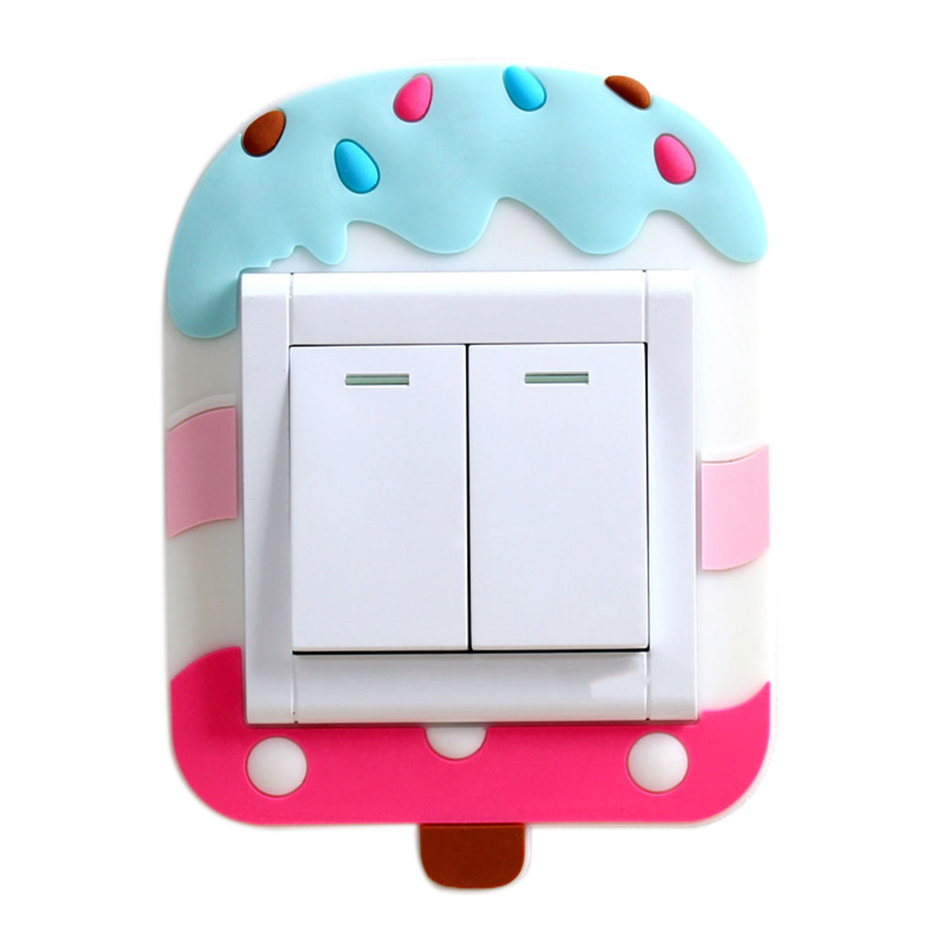 Cartoon  Washable Luminous Light  Switch Socket Paste Free Protective Cover Living Room Decorative Stickers