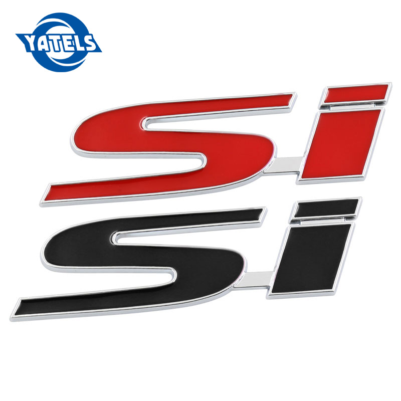 Fashion Metal Car Sticker Auto Body SI Emblem Badge Logo Decal For Honda Civic Si Accord Crv Hrv City Car Styling Accessories