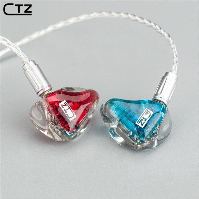 2016 New CTZ TZ3 In Ear Earphone 3BA Drive Unit DIY HIFI Monitoring Earphone With MMCX Interface 8-core Cable Optional