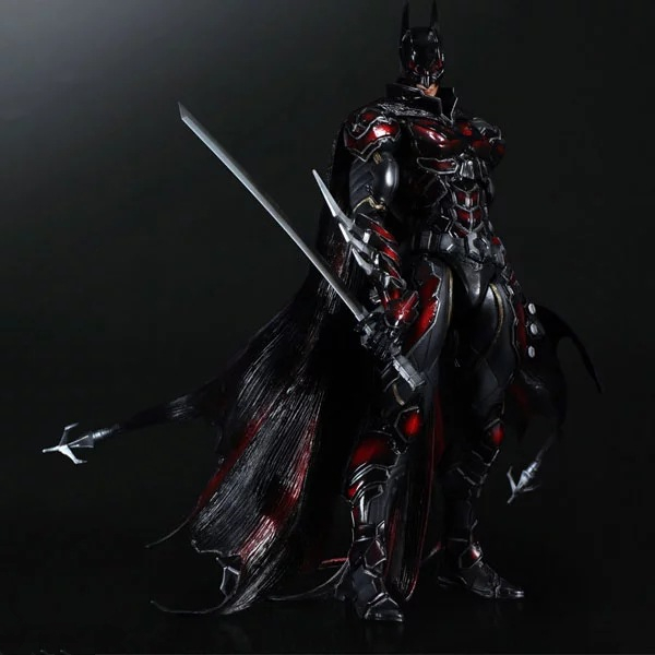 DC Comics Superhero The Dark Knight Batman Variant PLAY ARTS KAI Batman PVC Action Figure Collectible Model Kids Toys Doll SH037 playarts kai batman arkham knight batman blue limited ver brinquedos pvc action figure collectible model doll kids toys 28cm