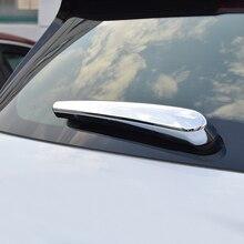 For Buick Encore Chevy Trax 2013 2014 2015 2016 2017 2018 Chrome Trunk Rear Door Window Wiper Cover Trim sticker Accessories window visor for buick encore 2013 2018 side window deflectors rain guards for buick encore 2013 2014 2015 2016 2017 2018 sunz