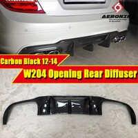 W204 LCI Sport diffuseur de pare-chocs arrière en fibre de carbone pour mercedes classe C C180 C200 C250 C63AMG ouverture de style 2012-2014