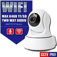 HD 1080 P PTZ Wifi Cámara IP IR 8 M Visión Nocturna de Seguridad de dos Vías de Audio Vigilancia CCTV 2MP WIFI P2P Ip Inalámbrica