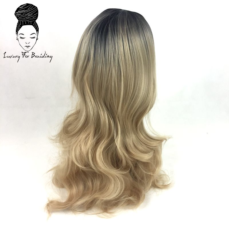 long curly ombre blonde synthetic wigs04