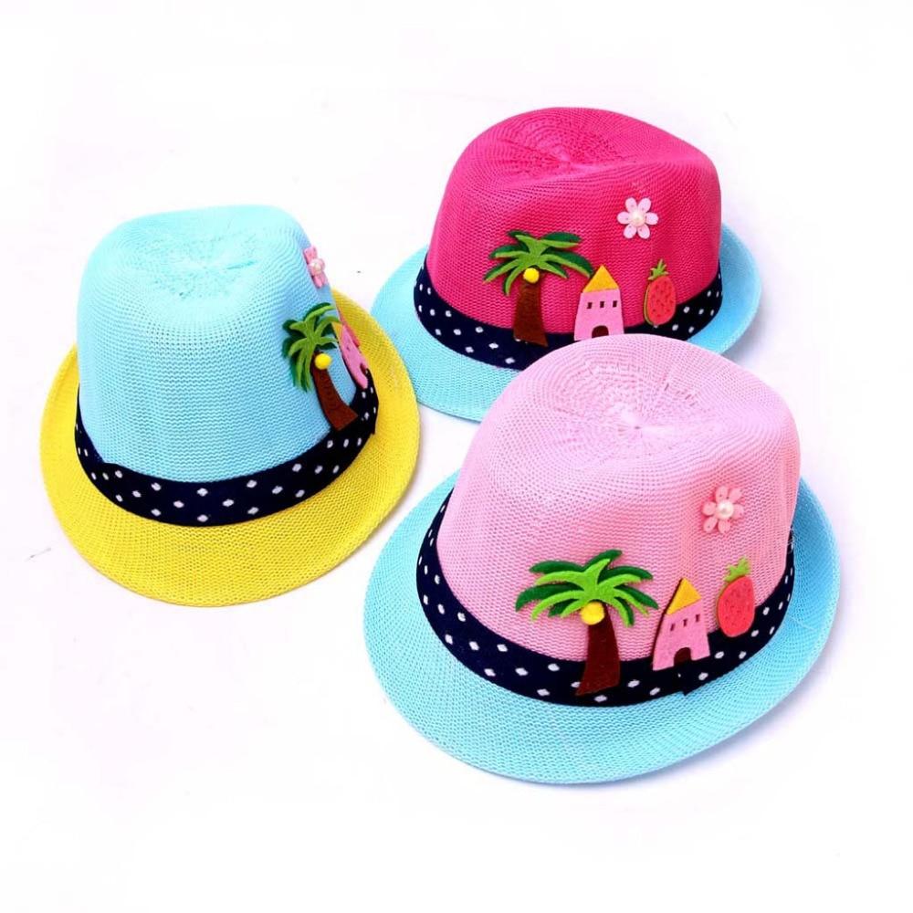 Summer Baby Boy Girls Hat Beach Sun Cap Children Breathable Hat Show Kids Caps