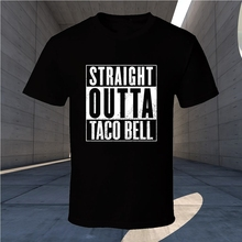 4a69975d4 Men T Shirts Straight Taco Bell Black Outta Gift Movie Parody Nwa Compton  New From US