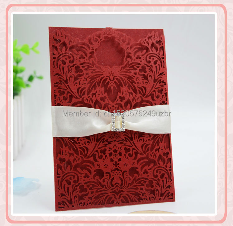 Luxury laser cut baby naming ceremony invitation cards unique pocket ...