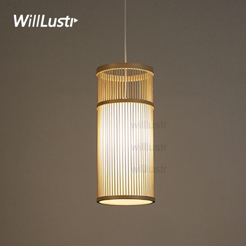 Willlustr Bamboo Pendant Lamp Wood Suspension Light