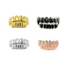 Новая мода хип-хоп зубные грили верхние и нижние зубные панк-вампиры зубные колпачки Косплей вечерние зубные рэпперы Украшения для тела подарок