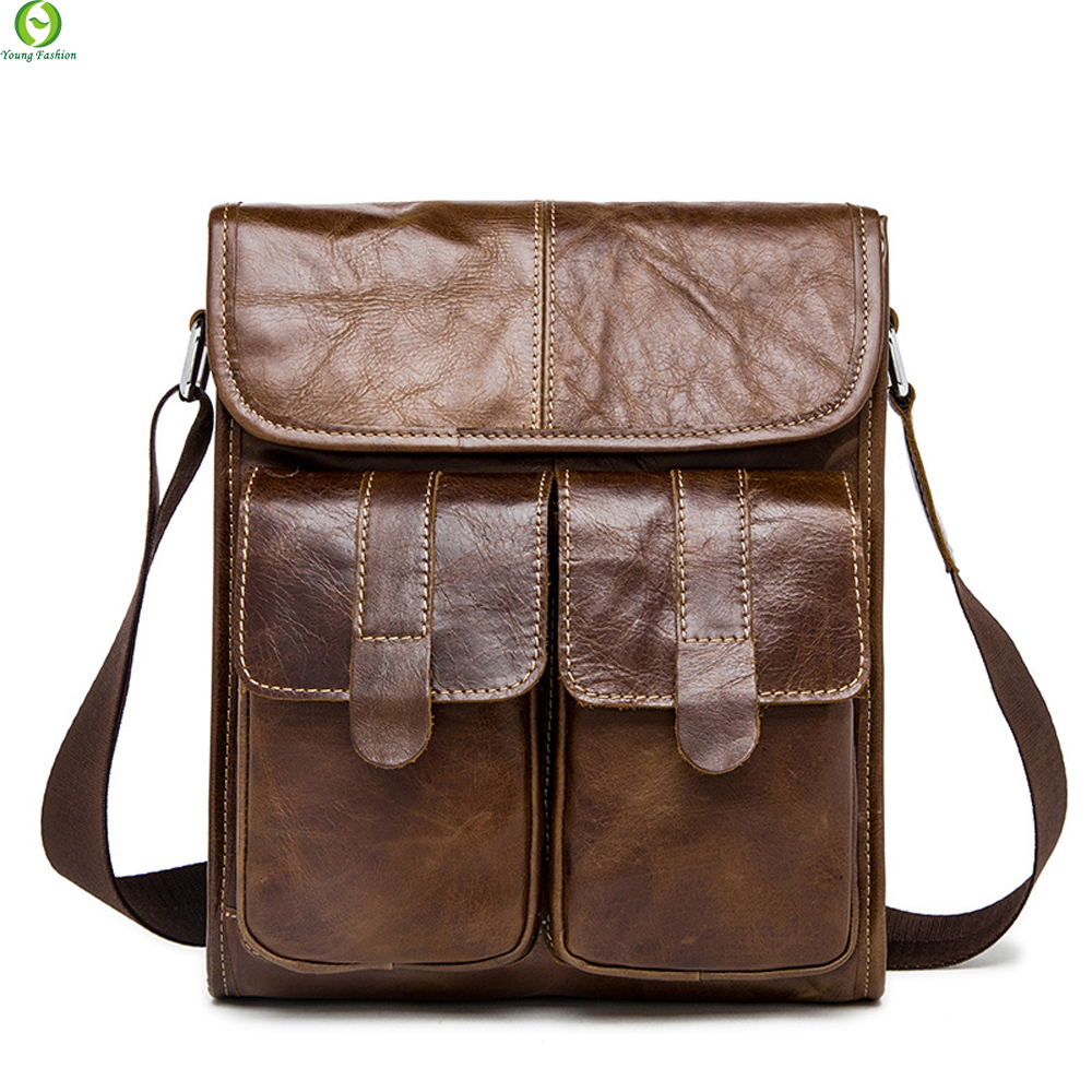 100% Genuine Leather Mens Bag Cowhide Skin Shoulder Bag Briefcase high quality men messenger bags Designer crossbody bag New