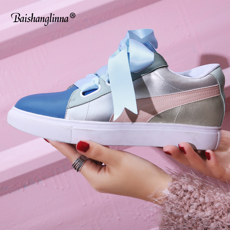 2018 Spring Autumn Flat shoes women Cow leather Casual Flats female Lace-Up Round Toe women shoes shallow handmade shoes mujer hizcinth 2018 spring women shoes shallow lace up square toe single shoes woman geometric stars casual flats platform shoes