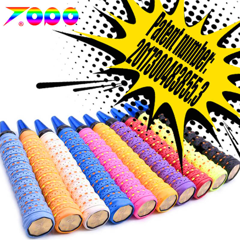 10pcs/lot PU-110 tacky feel EVA Wave grap Punched Overgrips/badminton racket/badminton racquet