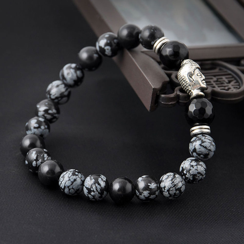 2018 Natural Stone Buddha Arm Warmers With Stones Beads Men Turkish Jewelry Pulseira Masculina Lava Energy Warmer Be Shrewd In Money Matters Men's Accessories
