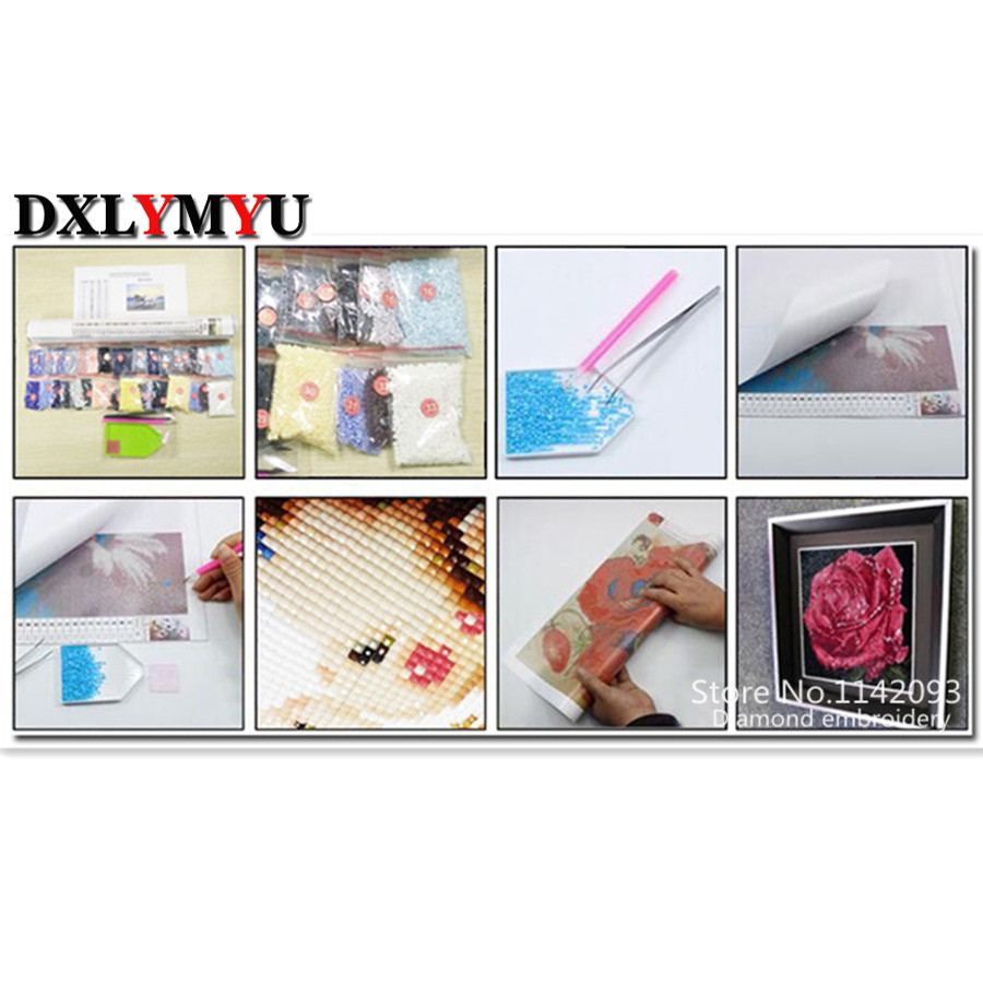 new product full drill 5d diamond painting diy diamond embroidery cartoon picture needlework cross stitch wall picture in Diamond Painting Cross Stitch from Home Garden