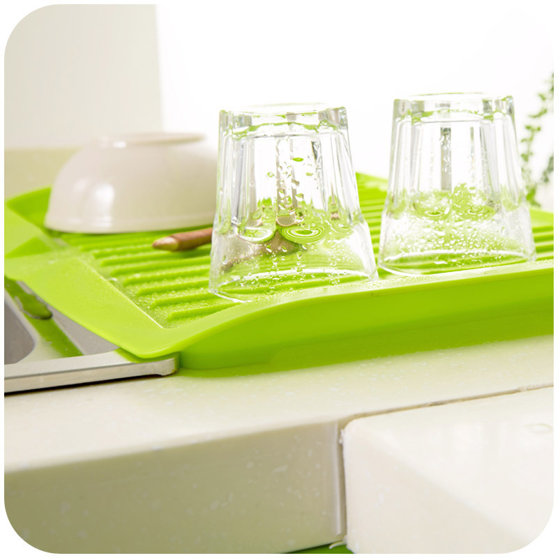 High Quality Dishes Sink Drain Pallet Plastic Filter Plate Storage Rack Kitchen Shelving Rack Drain Board Dish Drainer Rack -in Storage Holders \u0026 Racks from ... & High Quality Dishes Sink Drain Pallet Plastic Filter Plate Storage ...