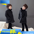 New Brand 2017 Winter Kid's Fashion & Casual Jackets Boy's Cashmere Long Sleeve Coats Kids Warm Clothing