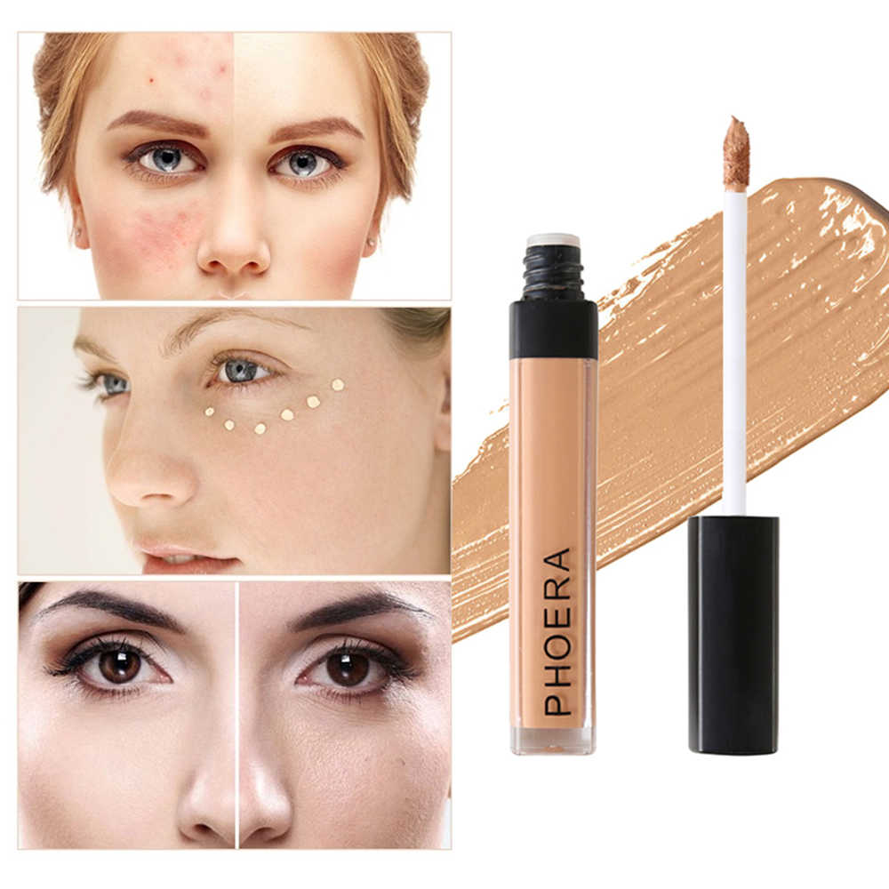 PHOERA Full Cover Liquid Concealer Foundation Cream Makeup Face Eyes Dark Circles Scars Acne Cover Cream Base Cosmetic TSLM2