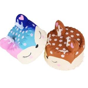 Image 5 - Jouet gâteau gâteau en forme de cerf coloré anti stress, lent à monter, jouet anti stress, jouet à presser pour enfants, garçons, filles et adultes