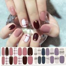 Korea Nail Sticker Full Cover Sticker Wraps Decorations DIY Manicure Slider Nail Vinyls Nails Decals Manicure Art