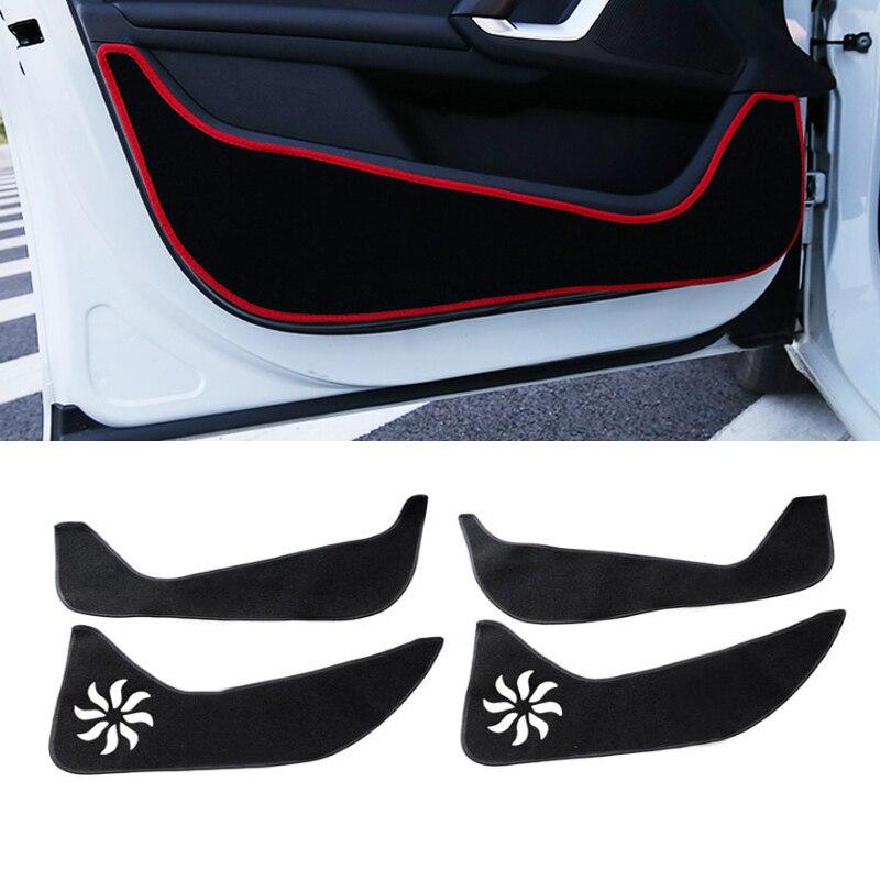 Полиэстер протектор боковой кромки защиты площадки защищены против Kick коврики покрытие автомобиля для укладки для Peugeot 408 2014 2015 2016