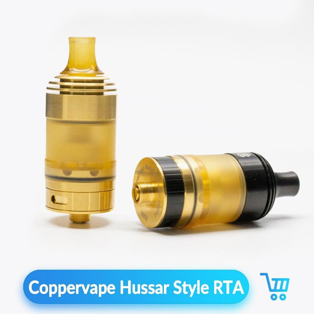 Volcanee Coppervape Hussar Style RTA atomiseur reconstructible 3 ml capacité réglable contrôle de flux d'air E Cigarette Vape VS réservoir RDA