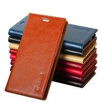 6 Color High Quality Genuine Natural Leather Flip Stand Case For Samsung J5 2016 J5108 J510X