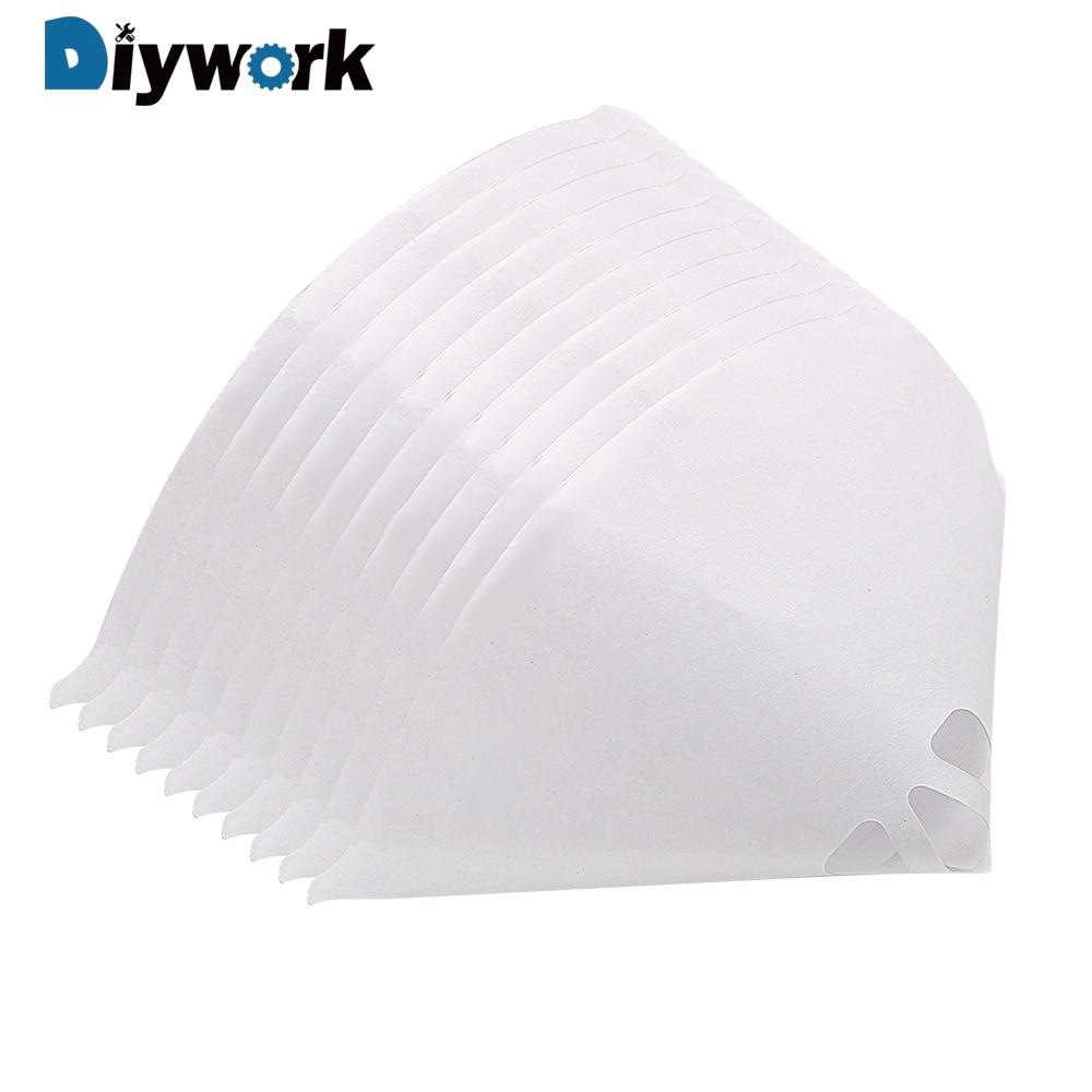 diywork 10pcs car paint part paint funnel tool paper paint strainers