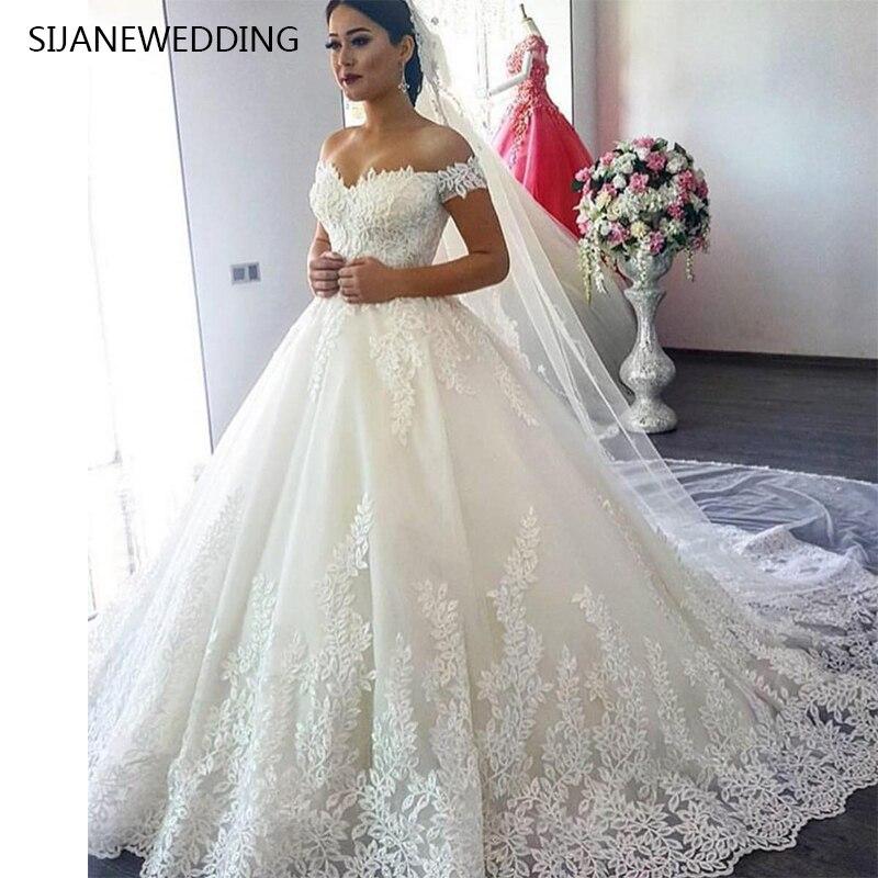 Wedding Dress Vestidos De Noiva Ball Gonw Lace Wedding Party dress528