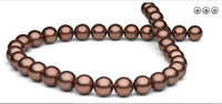 10 11MM TAHITIAN BLACK RED PEARL NECKLACE 18INCH 14k/20