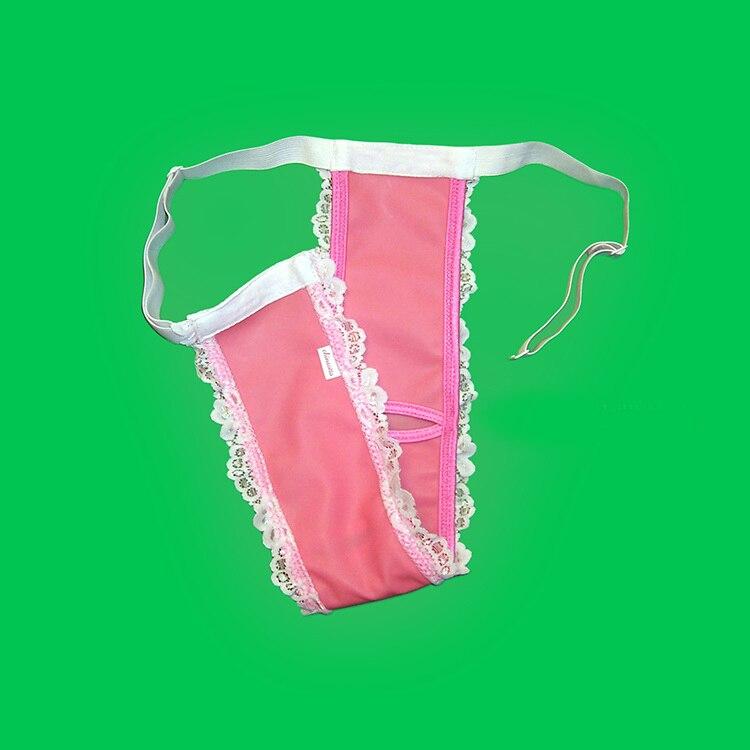SISSY pouch panties men's lace skirted thong briefs bikini sexy for men gay jockstrap mens thongs and g strings sissy panties
