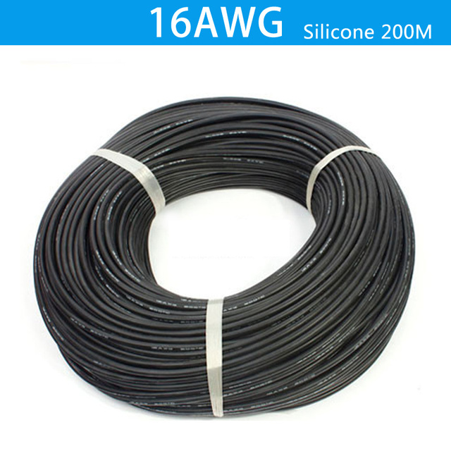 200 meter 16AWG Silicone Wire Cable Soft High Temperature Tinned