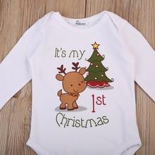 Christmas Newborn Baby Girls Boy Long Sleeve Romper