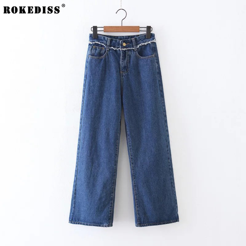 ROKEDISS 2017 New Fashion Jeans Women Wide leg Pants High Waist Jeans Sexy Slim Elastic Pants Trousers Fit Lady Jeans X109 anne klein new deep black slim leg ponte director women s 2 dress pants $89 361