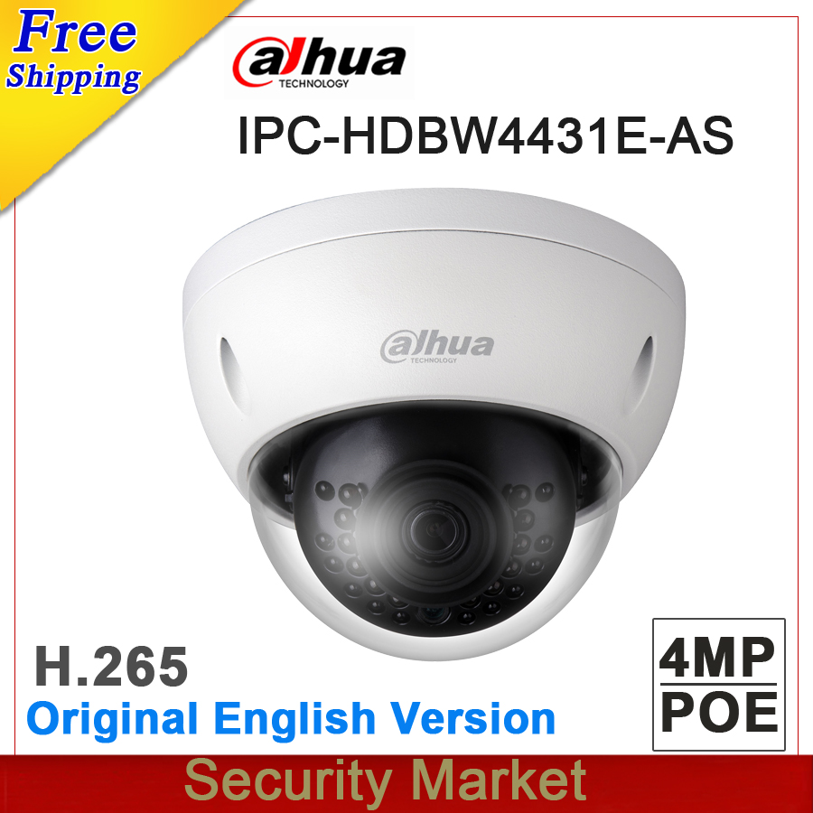 Original dahua English IPC HDBW4431E ASE replace IPC HDBW4431E AS 4MP POE Network mini Dome Camera