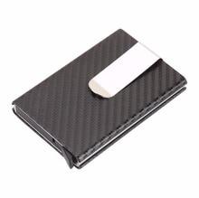 Корпус бізнес-картки Artmi RFID Блокування чоловіків Гаманець бізнес-картки з вуглецевим волокном Автоматичний спливаючий алюмінієвий гаманець