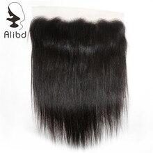 Alibd Кружева Фронтальная застежка 13X4 с ребенком волос Бразилии прямо человеческих волос Кружева Закрытие Natural Цвет