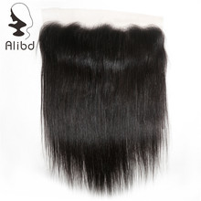Alibd Lace Frontal Closure 13X4 with Baby Hair Brazilian Straight Remy Human Hair Lace Closure Natural Color Free Shipping