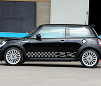 Car styling Car Door Both Side decals stickers Car body lattice decoration Vinyl Stickers For Mini Cooper Countryman